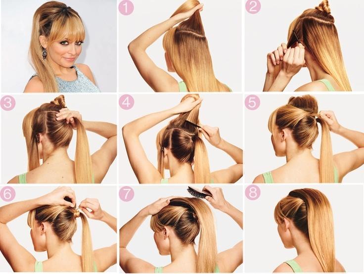 Простая причёска на средние волосы своими руками на каждый день