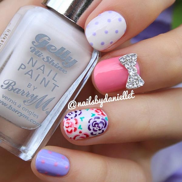 32 Gorgeous Nail Art Images Inspired By Summer Motifs: 32 Amazing Nail Design Ideas For Short Nails, Beautiful