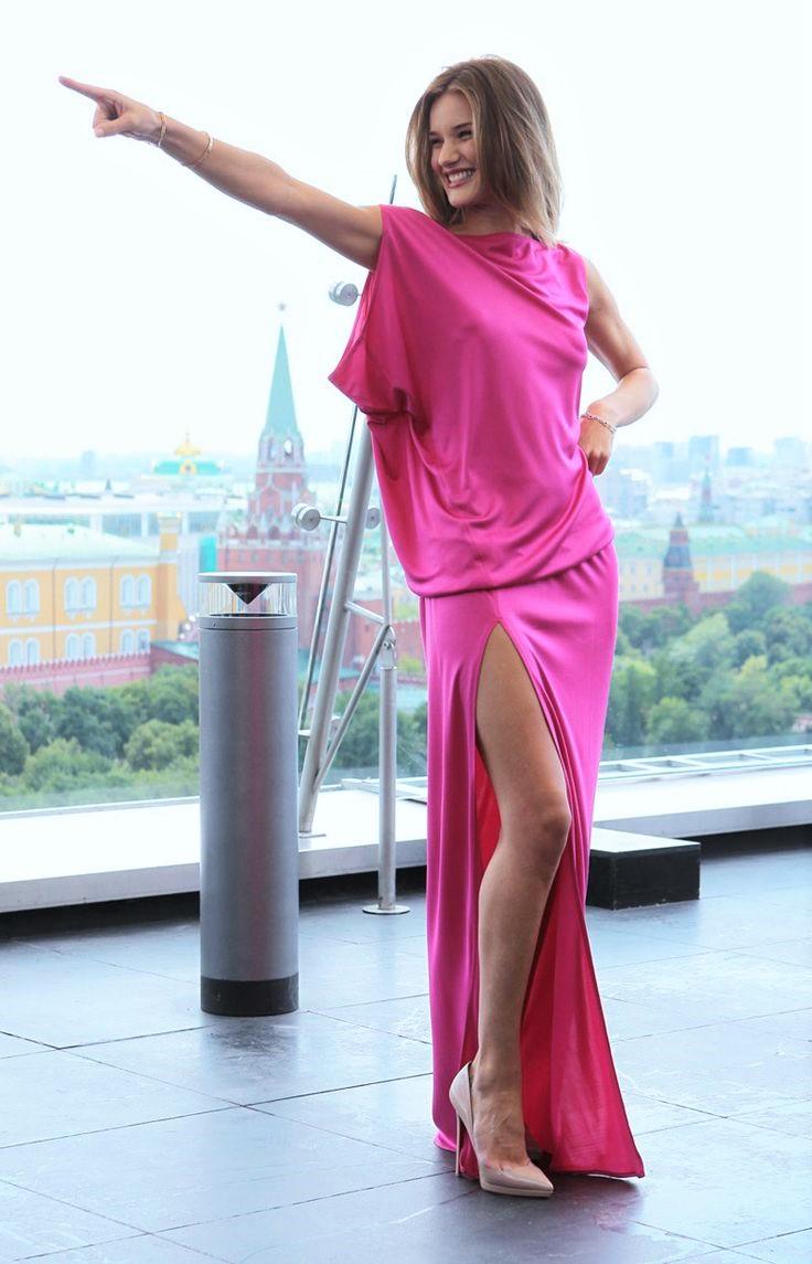 Голубое платье розовые туфли