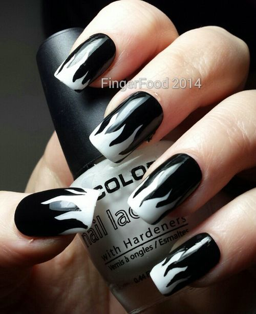 Dynamic Views Very Beautiful And Preity Nails Art Red: 25 Creative Black And White Nail Design Ideas