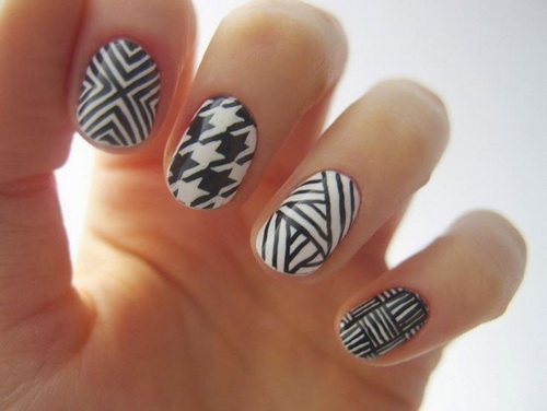 Black and white nail design ideas choice image nail art and nail black and white nail design ideas image collections nail art and black and white nail design prinsesfo Choice Image