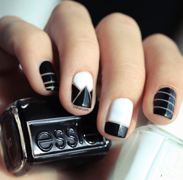 25 Best Ideas About White Nails On Pinterest: 25 Creative Black And White Nail Design Ideas