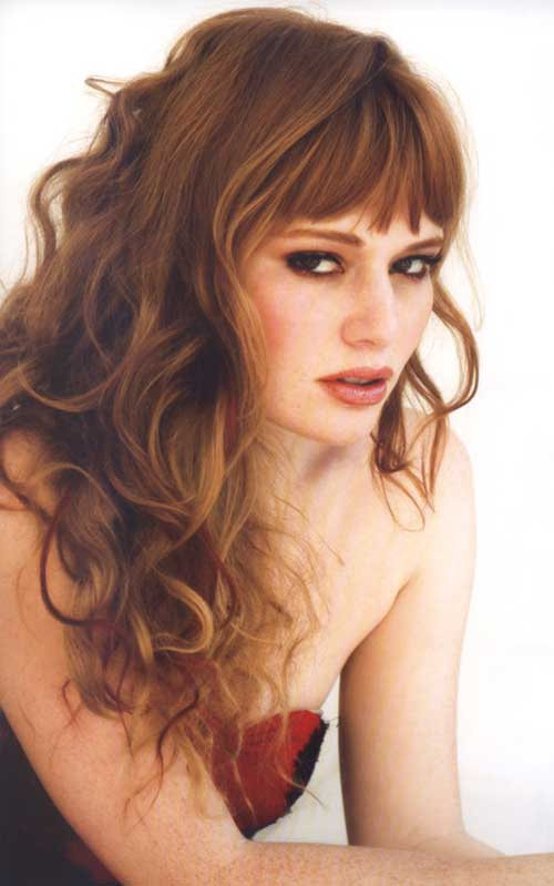best hair style for curly hair 45 best hairstyles for hair with bangs 8244