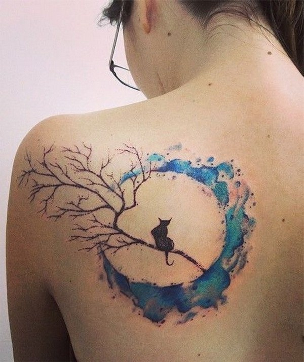 50 beautiful watercolor tattoo designs and ideas that will for Watercolor cat tattoo