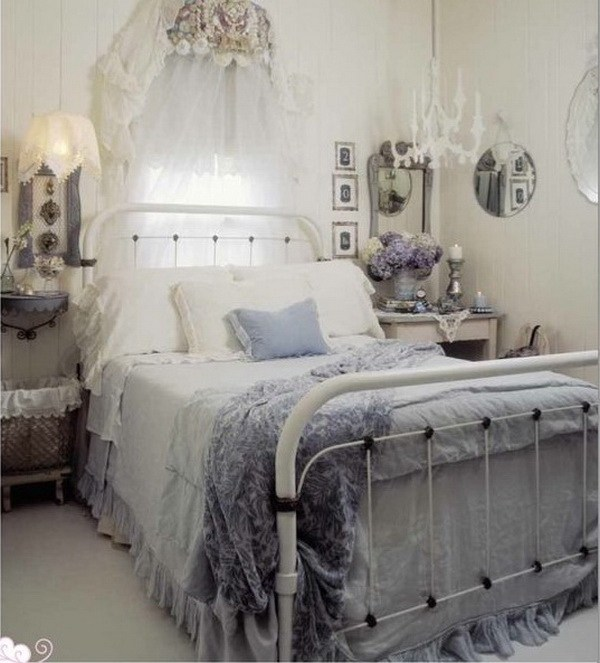 Bedroom Shabby Chic Wallpaper