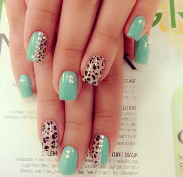 Nail Art Ideas Mint: 40 Elegant And Amazing Green Nail Art Designs That Will