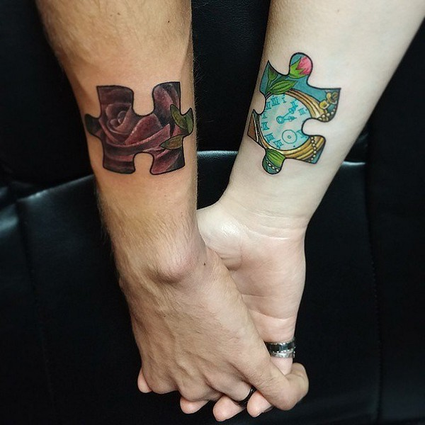 110 wonderful pictures of tattoos for couples that will for Matching tattoos for couples in love