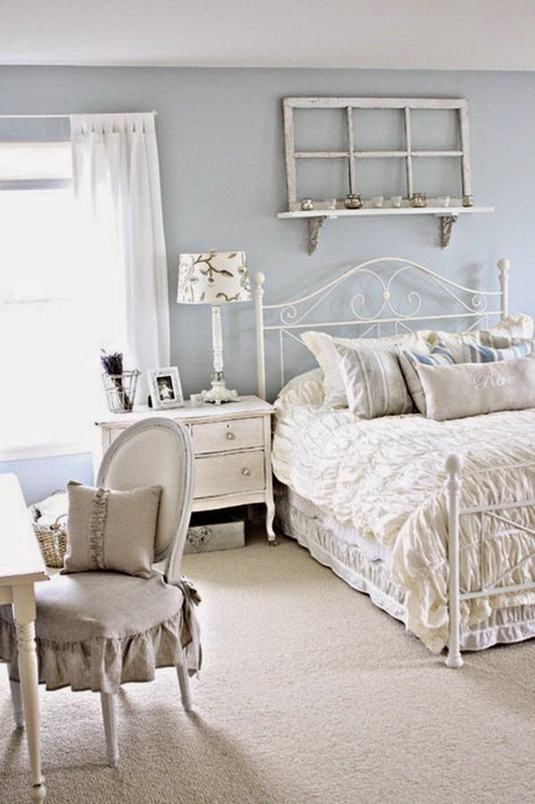 33 Cute And Simple Shabby Chic Bedroom Decorating Ideas ... on Bedroom Decoration Ideas  id=29607