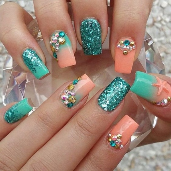 Best Summer Acrylic Nail Art Design Ideas For 2016: 35 Most Creative Acrylic Nail Art Designs To Fascinate