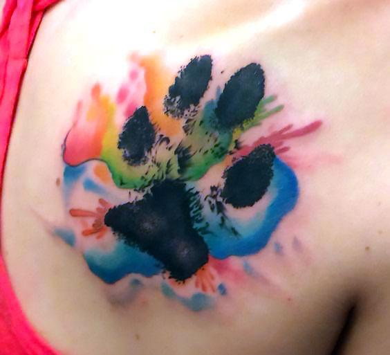 Creative Dog Paw Tattoos: 33 Cute And Lovely Dog Tattoos Ideas For Dog Lovers
