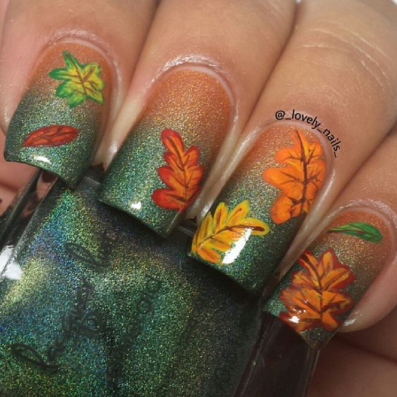 Diy Autumn Gradient Nail Art: 40 Gorgeous Fall Nail Art Ideas To Try This Fall