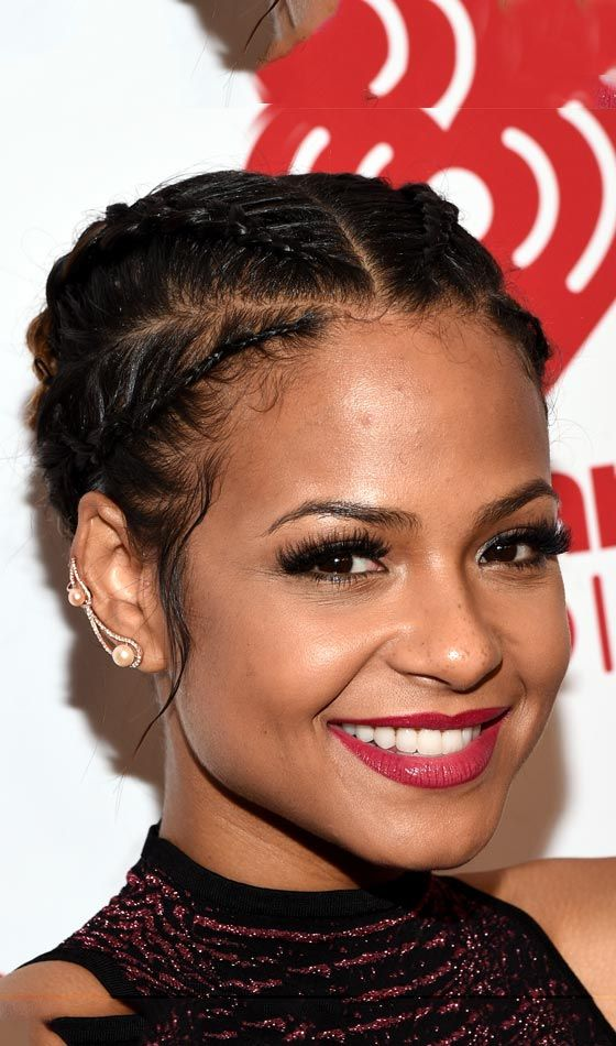 Cornrow Hairstyle French Bob Weave Hairstyles
