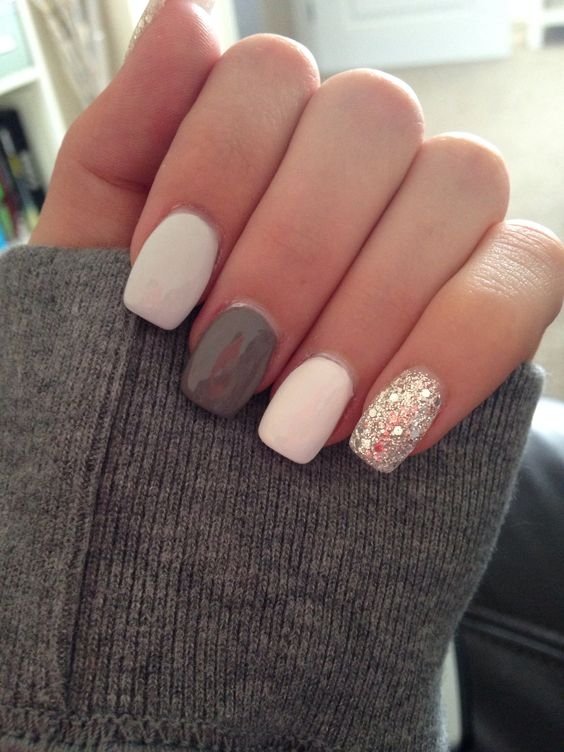 Grey White Silver Bedroom: 50 Stunning Manicure Ideas For Short Nails With Gel Polish