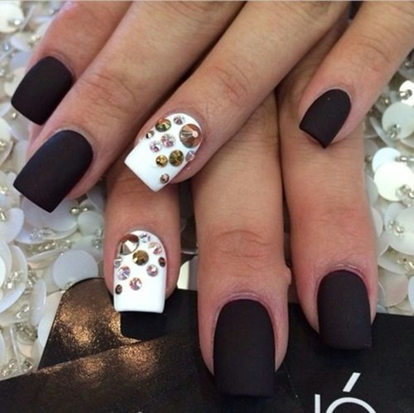 40 Cool Matte Nail Art Designs You Need To Try Right Now
