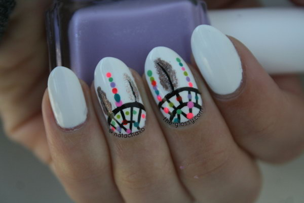 25 inspirational nail art inspired by native american designs native american nail art designs 14 prinsesfo Images