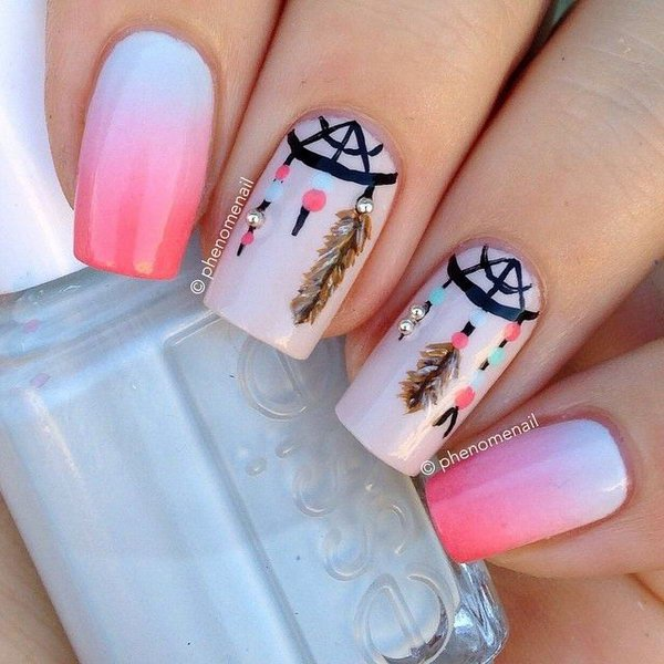 25 inspirational nail art inspired by native american designs native american nail art designs 19 prinsesfo Gallery