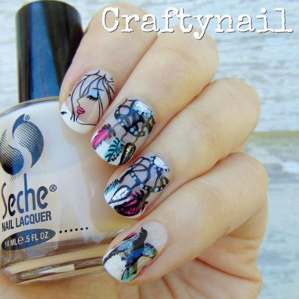 25 inspirational nail art inspired by native american designs native american nail art designs 2 prinsesfo Gallery