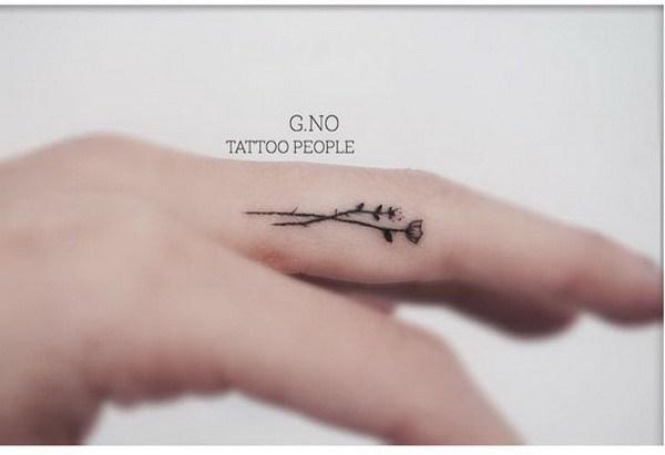 Heart And Rose Love Drawings 40 Amazing Finger Tatt...