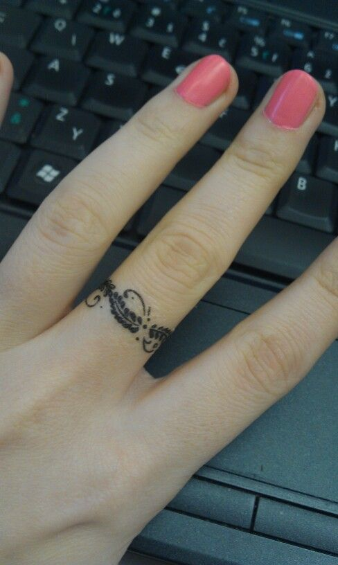 Wedding Ring Tattoos Designs Gallery: 50 Cool Wedding Ring Tattoos To Express Their Undying Love