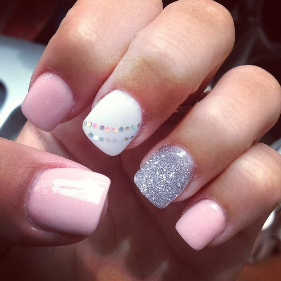 Nail Design White: 50 Stunning Manicure Ideas For Short Nails With Gel Polish