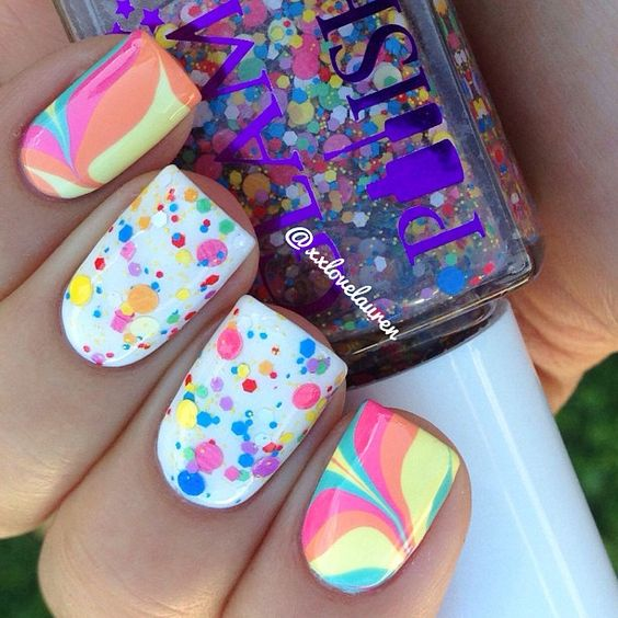 30 cool colorful rainbow nail designs you won t miss for Cool check designs