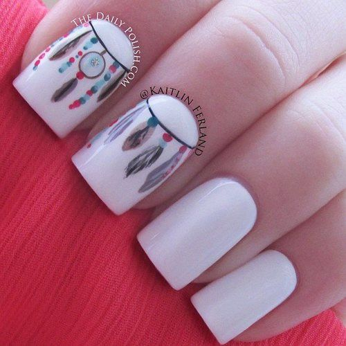 Acrylic Nail Designs Hippie: Best long acrylic nails ideas on. Tie ...