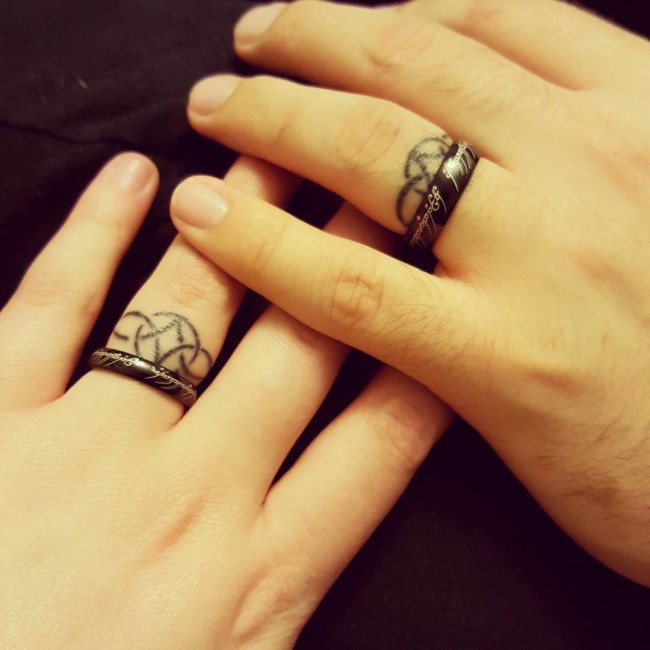 Wedding Ring Finger Tattoos Image