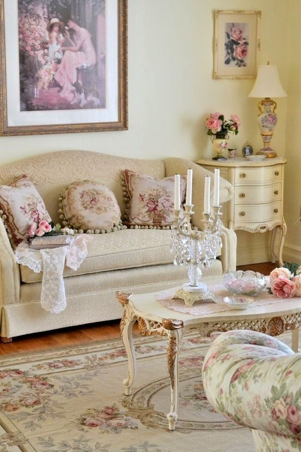 50 cool shabby chic living room decor ideas ecstasycoffee for Shabby chic cottage decor