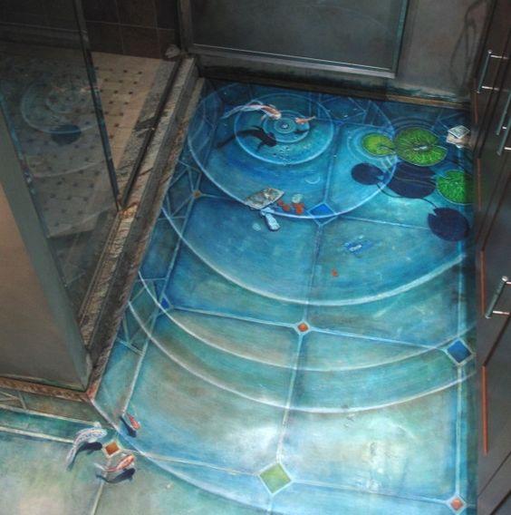 Home Design Ideas Decorating Gardening: 23 3D Bathroom Floors Design Ideas That Will Change Your