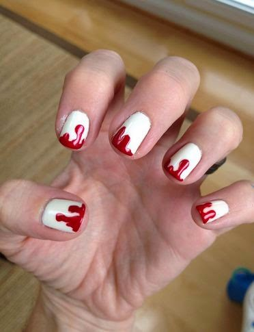 Simple Halloween Nail Designs