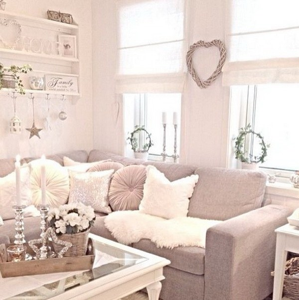 50 cool shabby chic living room decor ideas ecstasycoffee - Decorating living room ideas pinterest ...