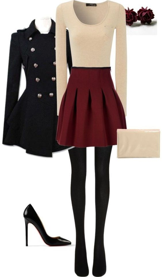 50 Cute Christmas Outfits Ideas To Copy - EcstasyCoffee Summer Outfits For Teenage Girls Polyvore