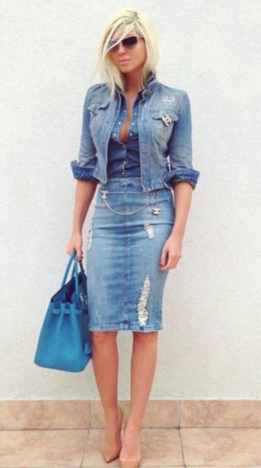 40 Lovely Denim Skirts To Wear Now | EcstasyCoffee