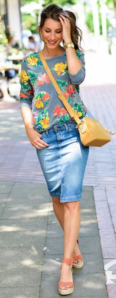 40 Lovely Denim Skirts To Wear Now Ecstasycoffee