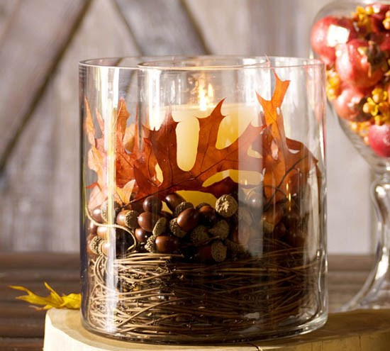 40 Nature Inspired Fall Decorating Ideas And Easy Diy Decor: 50 Cool And Inexpensive DIY Thanksgiving Decorations Ideas