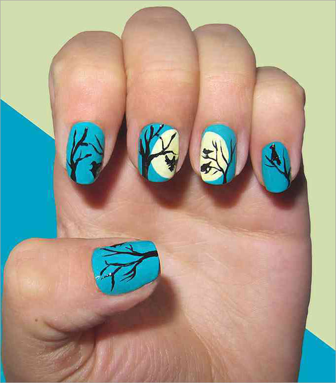 45 fall nail art designs ideas youll love ecstasycoffee fall toe nail design prinsesfo Images
