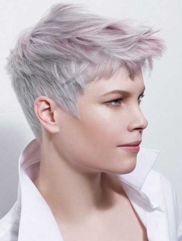 40 Cool Grey Hairstyles Ideas Ecstasycoffee