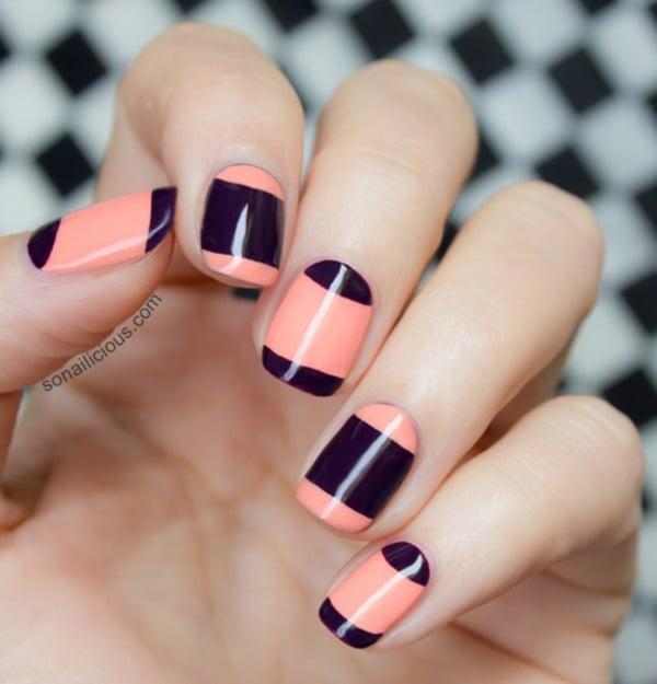 Oval Nails Design Tumblr 50 Half Moon Nail Art ...