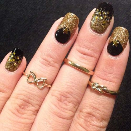 50 half moon nail art designs to try ecstasycoffee half moon nail designs 5 prinsesfo Image collections