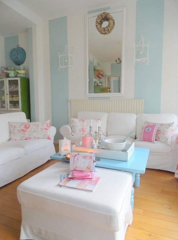 50 cool shabby chic living room decor ideas ecstasycoffee for Living room ideas pastel
