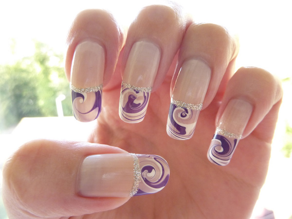 40 Awesome Water Marble Nail Art Designs You Ll Want To