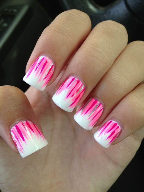 Pink And White Bedroom: 50 Most Beautiful Pink And White Nails Designs Ideas You