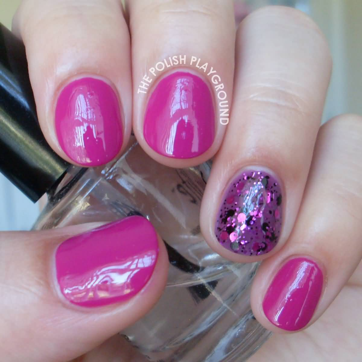 65 incredible glitter accent nail art ideas you need to try purple glitter accent nail art1 prinsesfo Gallery