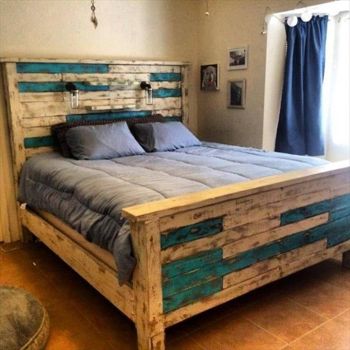 40 Creative Wood Pallet Bed Design Ideas