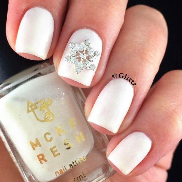 Elegant Winter Nails Tutorial Elegant Christmas Winter Nails