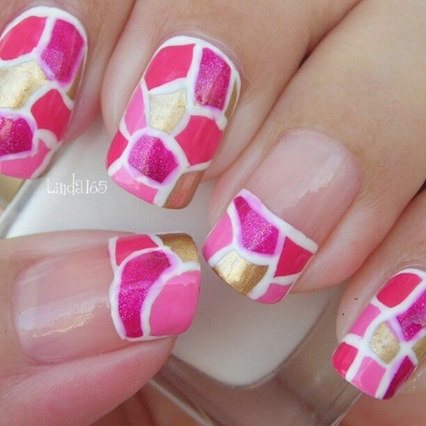 70 Most Beautiful 3d Nail Art Design Ideas For Trendy Girls: 50 Most Beautiful Pink And White Nails Designs Ideas You