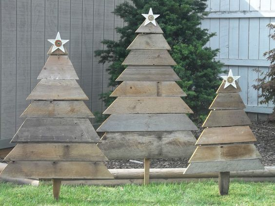 Ideas of wooden christmas tree for backyard ecstasycoffee