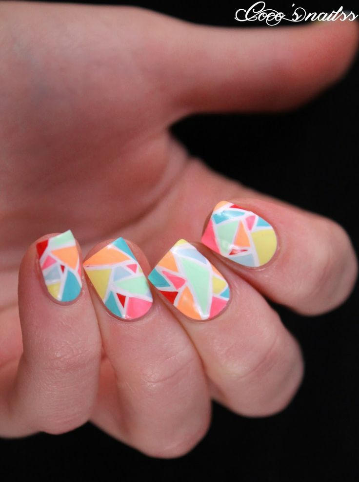 50 unique nail art ideas and designs 2017 ecstasycoffee geometric design of nails10 prinsesfo Image collections