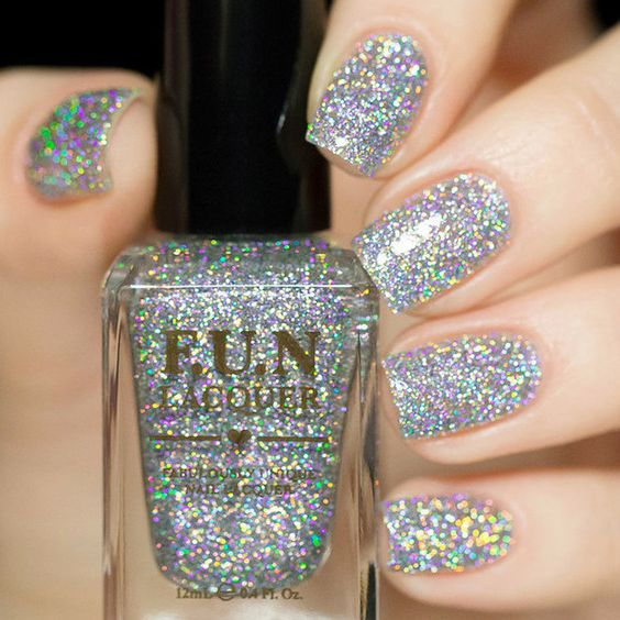 80 Awesome Glitter Nail Art Designs You'll Love