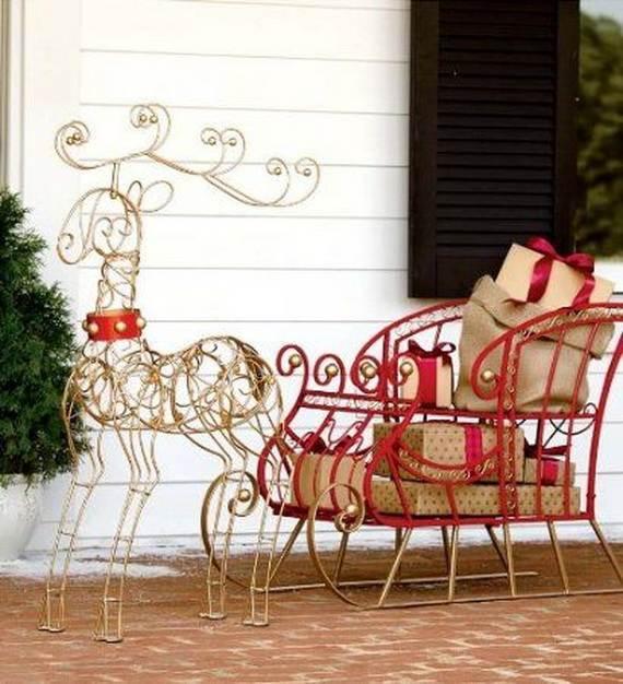 50 amazing outdoor christmas decorations ideas for Outdoor christmas decorations 2016